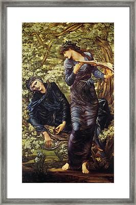 The Beguiling Of Merlin Framed Print by Edward Burne Jones