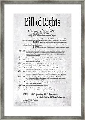 The Bill Of Rights H K Framed Print by Daniel Hagerman