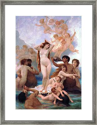 The Birth Of Venus Framed Print by Adolphe-William Bouguereau