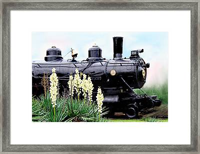 The Black Steam Engine Framed Print