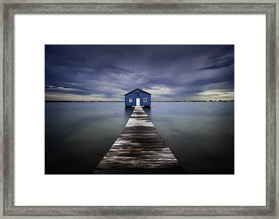 The Blue Boatshed Framed Print