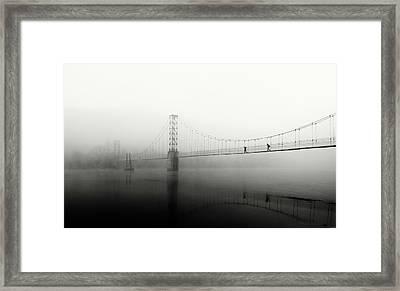 The Blue Morning Framed Print