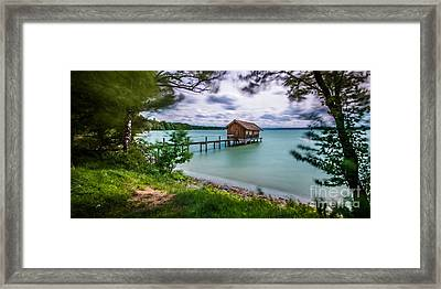 The Boats House Framed Print