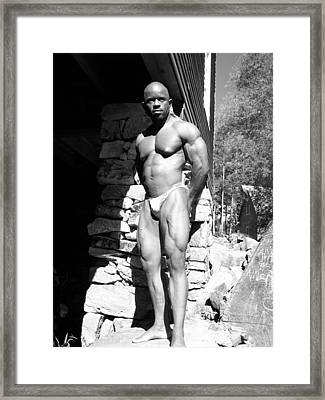 The Bodybuilder Framed Print by Jake Hartz
