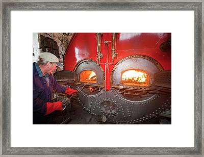 The Boiler At Queens Mill In Burnley Framed Print