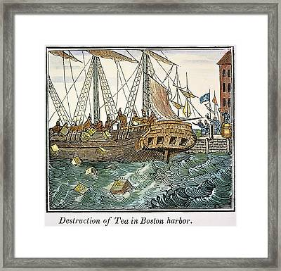 The Boston Tea Party, 1773 Framed Print