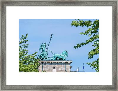 The Brandenburg Gate Quadriga - Berlin Germany Framed Print by Colin Utz