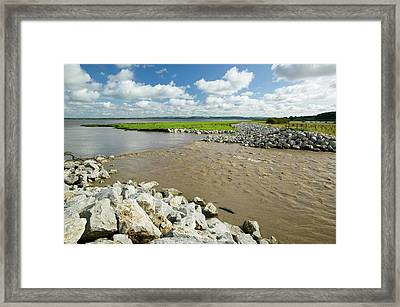 The Breach At Alkborough Framed Print by Ashley Cooper