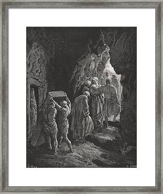 The Burial Of Sarah Framed Print by Gustave Dore