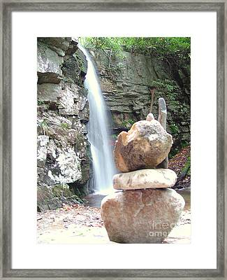 The Cairn Framed Print