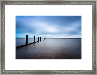 Framed Print featuring the photograph The Calm Sea. by Gary Gillette