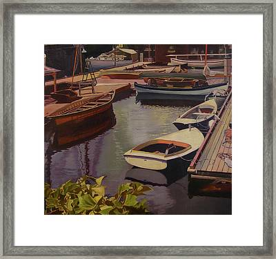 The Canvas Boat Framed Print by Thu Nguyen