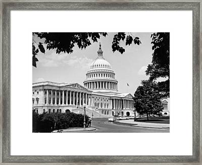 The Capitol Building Framed Print by Underwood Archives