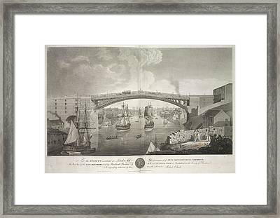 The Cast Iron Bridge Framed Print by British Library