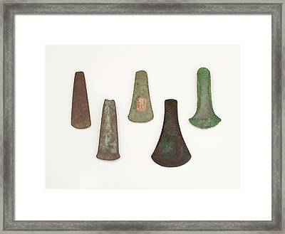 The Celt Flat Axe Copper To Bronze Age Framed Print by Paul D Stewart
