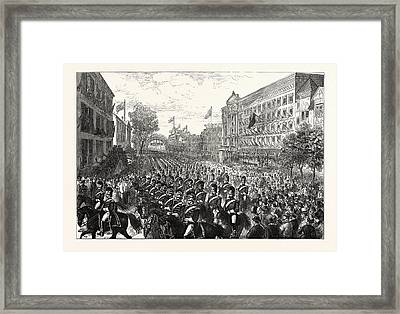 The Centennial Celebration Of American Independence Framed Print