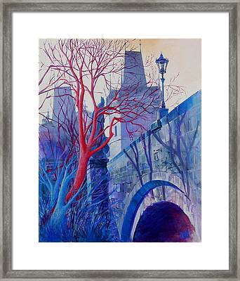 The Charles Bridge Blues Framed Print