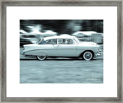 The Chevy Bel Air  Framed Print by Steven  Digman