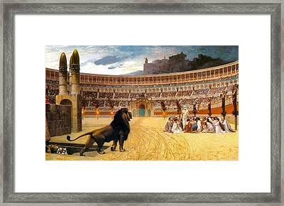 The Christian Martyrs' Last Prayer Framed Print by Jean Leon Gerome