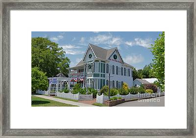 The Christmas House Framed Print by Bob Sample