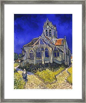 The Church In Auvers-sur-oise Framed Print by Mountain Dreams