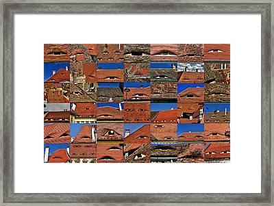 The City's Eyes Sibiu Hermannstadt Romania Framed Print