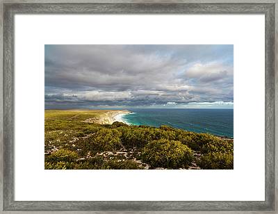The Cliff Line Near Remarkable Rocks Framed Print by Martin Zwick