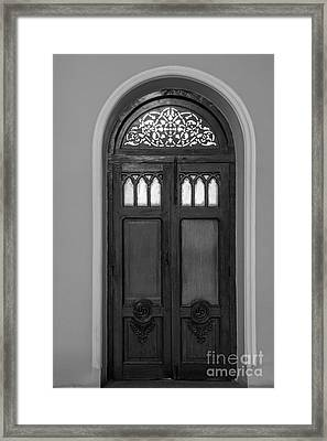 The Closed Door Framed Print