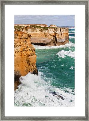 The Coastline Near Loch Ard Gorge, View Framed Print by Martin Zwick