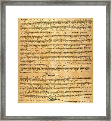 The Constitution, 1787 Framed Print