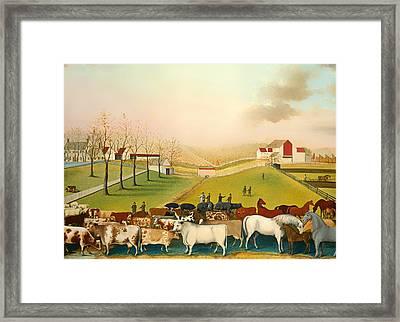 The Cornell Farm Framed Print