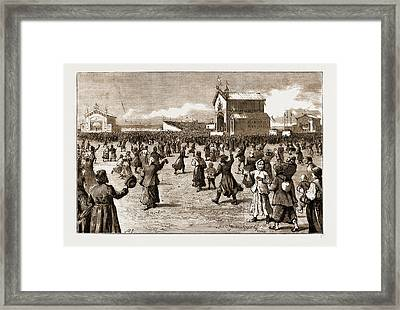The Coronation Of The Czar Of Russia, 1883 The Peoples Fete Framed Print