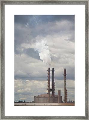 The Corus Steel Works At Scunthorpe Framed Print by Ashley Cooper