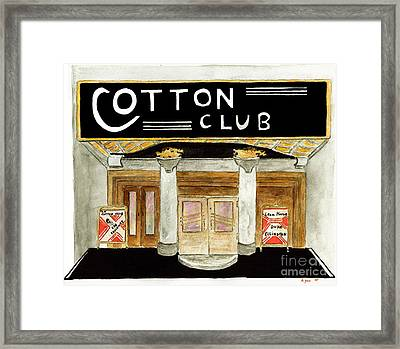 The Cotton Club Framed Print by AFineLyne