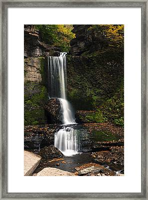 The Cowshed Falls Framed Print by Chris Babcock