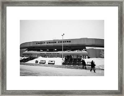 the credit union center Saskatoon Saskatchewan Canada Framed Print
