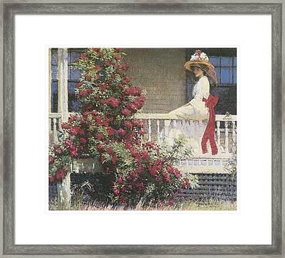 The Crimson Rambler Framed Print by Philip Leslie Hale