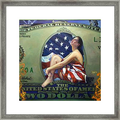 The Curse Of Freedom Framed Print