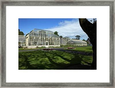 The Curvilinear Glasshouses, National Framed Print