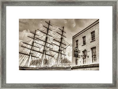 The Cutty Sark And Gipsy Moth Pub Greenwich Framed Print