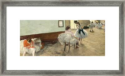The Dance Lesson Framed Print by Mountain Dreams