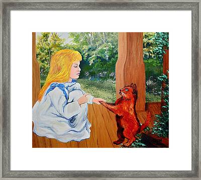 Framed Print featuring the painting The Dance Lesson by Karon Melillo DeVega