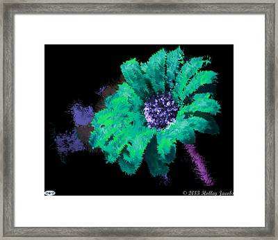 The Dance Teal Framed Print by Holley Jacobs
