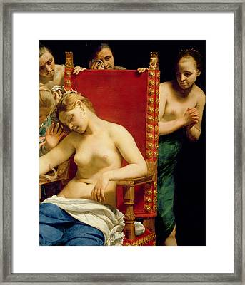 The Death Of Cleopatra  Framed Print by Guido Cagnacci