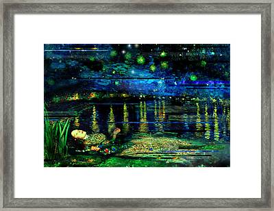 The Death Of Ophelia Rectangles Framed Print