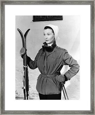 The Deep Blue Sea, Vivien Leigh, 1955 Framed Print