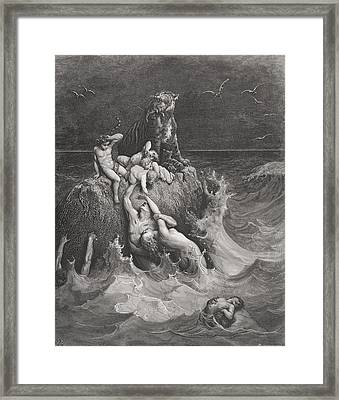 The Deluge Framed Print by Gustave Dore