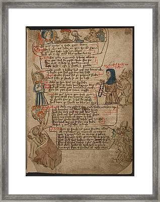 The Desert Of Religion Framed Print by British Library