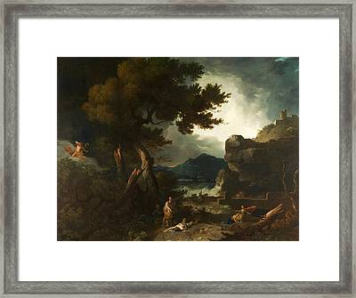 The Destruction Of Niobes Children Framed Print by Richard Wilson