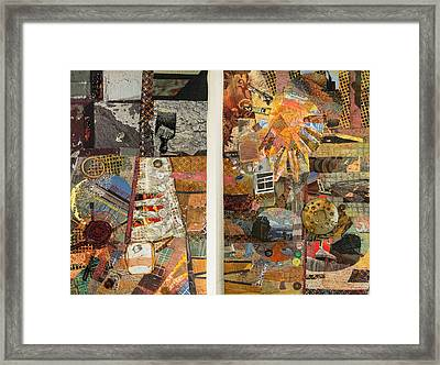The Detritus Of Working Class Lives Framed Print
